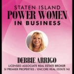 OUR AGENT – DEBBIE ARRIGO-As an Honoree for STATEN ISLAND POWER WOMAN in BUSINESS  2016
