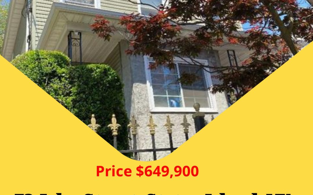 Just Reduced! 72 John Street, Staten Island, NY 10302 Contact: S.I. Premiere Properties Gregory Diaz NYS LIC. Real Estate Broker Owner Phone: 718-667-6400 Mobile: 347-297-1075 Fax: 718-667-6401 Email: gregdsells@aol.com